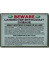 Humour 'Land Rover Disease' qualité signe métal - 285mm x 200
