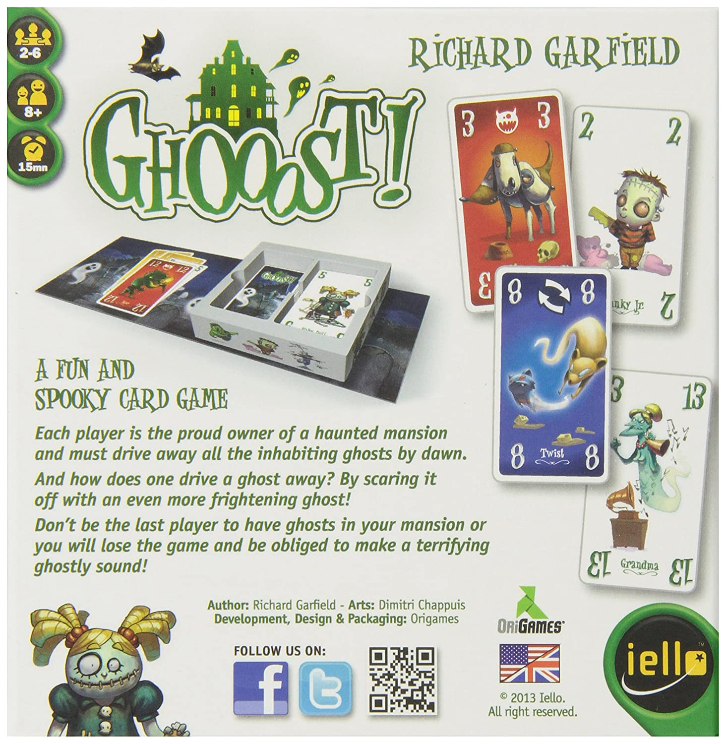 Amazon IELLO Ghooost Card Game Toys Games