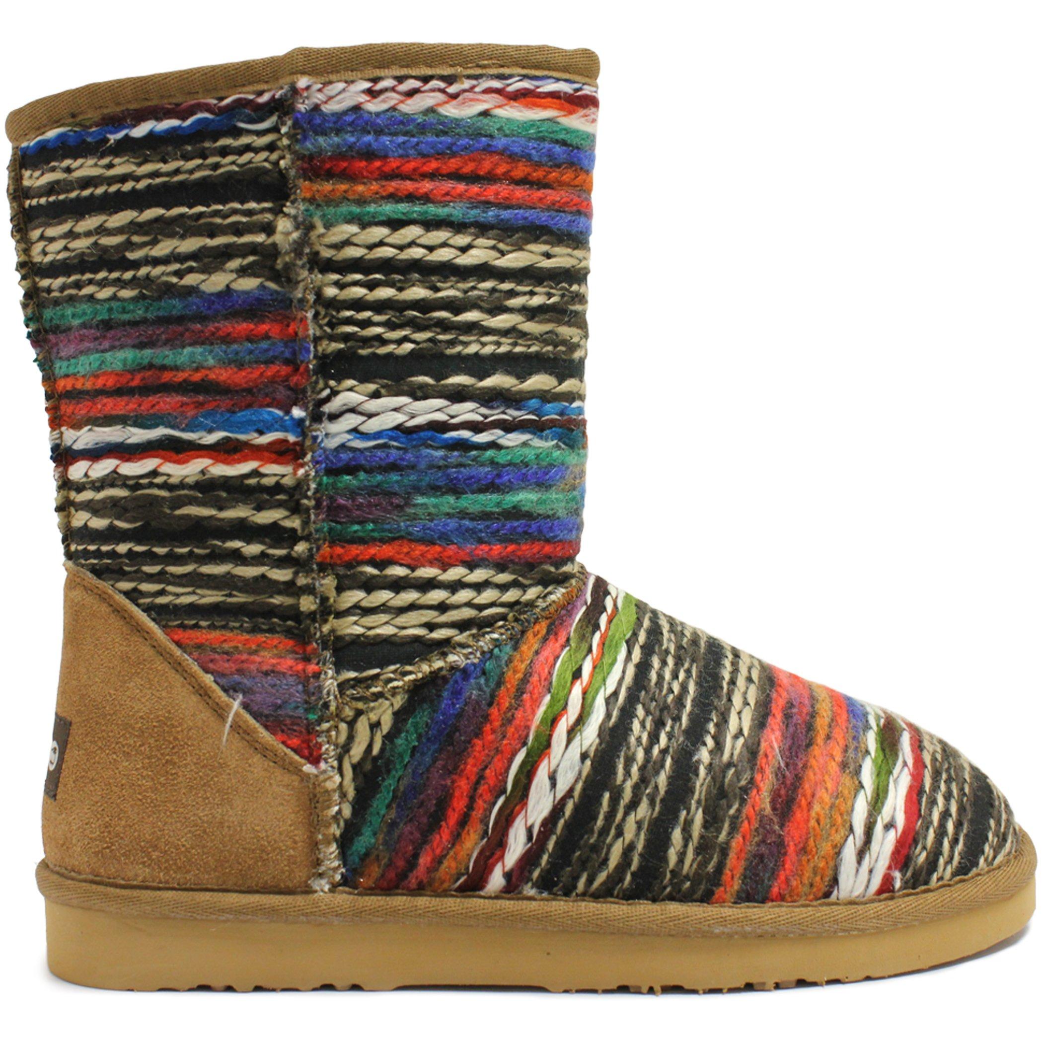 Lamo Women's Julep 10 inch Chelsea Boot, Chestnut, 9 M US