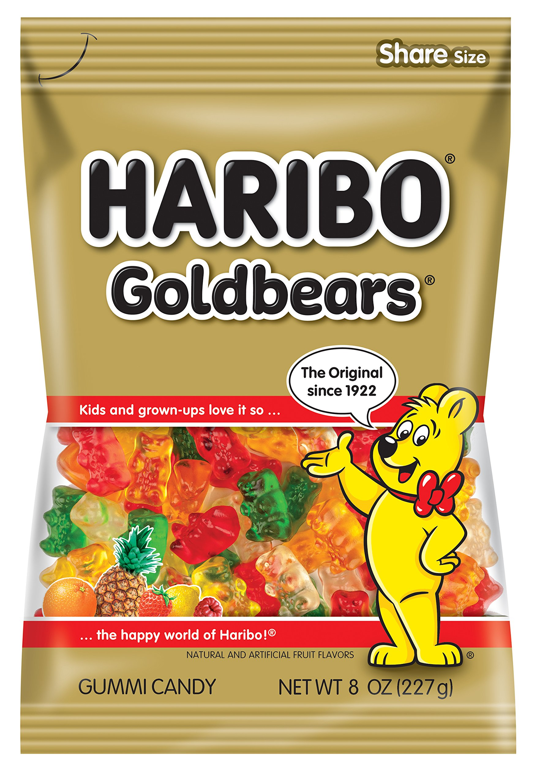 Haribo Goldbears Gummi Candy, 8 Ounce (Pack of 10) by Haribo