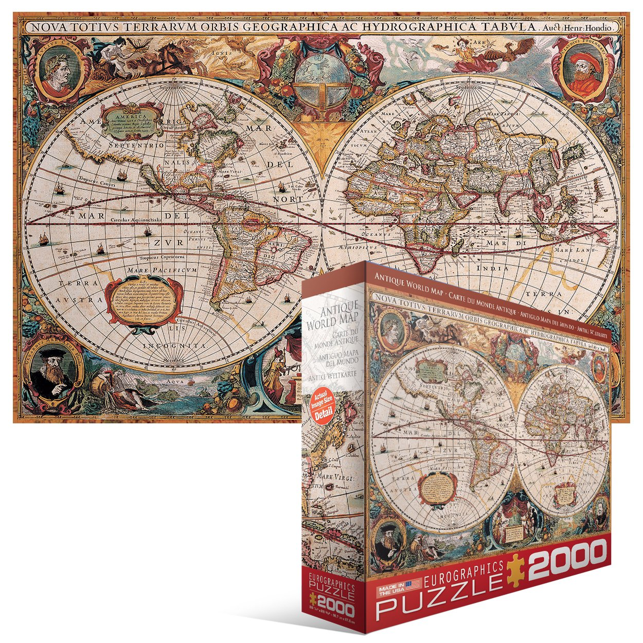 Amazon eurographics antique map of the world jigsaw puzzle amazon eurographics antique map of the world jigsaw puzzle 2000 piece toys games gumiabroncs Choice Image