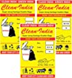 Clean India 25x30 Large -42 pcs (Pack of 3 X 14 pcs)| Large Disposable Garbage Trash Waste Dustbin Bags of 63cm x 76cm