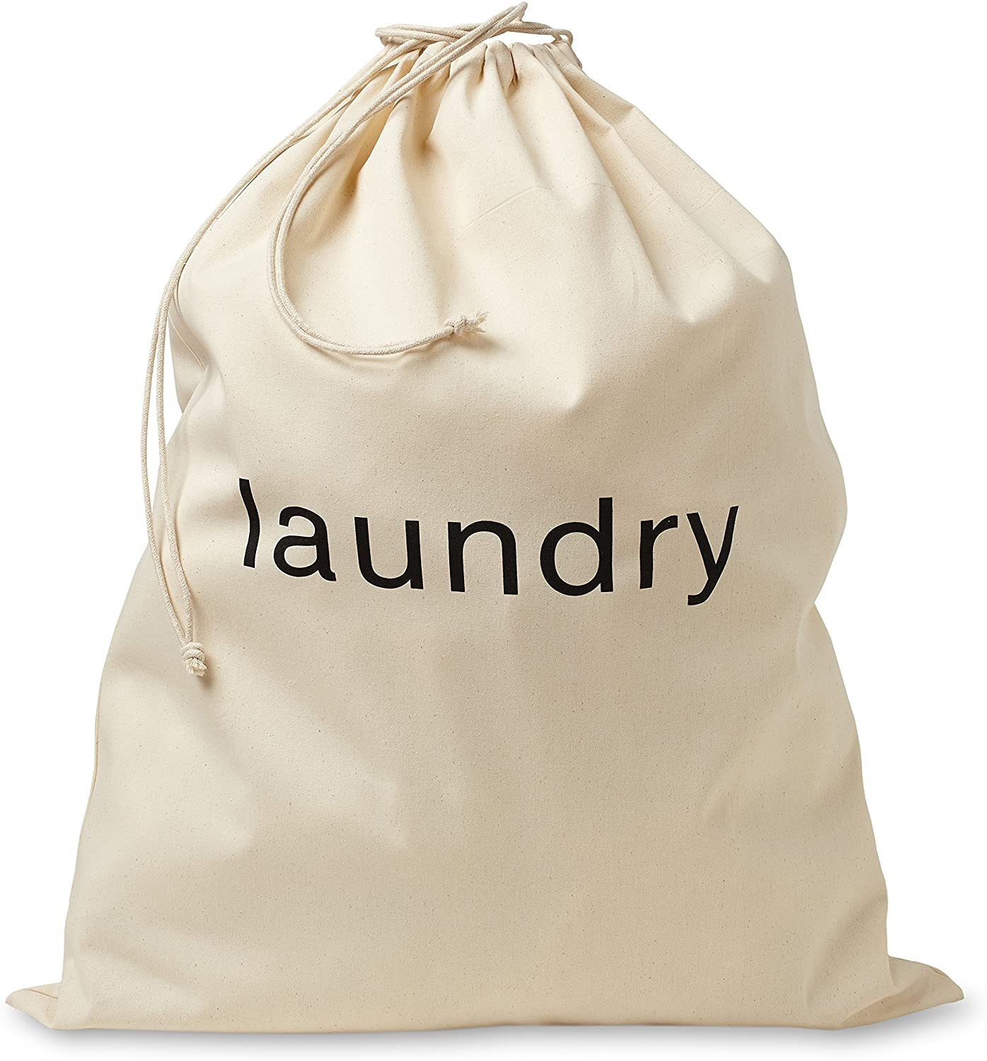 FABBPRO Cotton Canvas Cloth Fabric Laundry Bag – Stylish & Portable Natural Biodegradable Drawstring Bag – Ideal for Hotels, Airbnb's, Rental Spaces, Vacation Homes & Even Travel