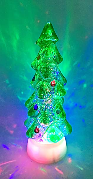 christmas tree swirl dome snowglobe with color changing led light up glitter liquid ornament christmas xmas