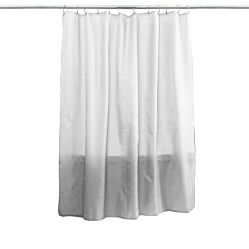 Amazon.com: Splash Home Hotel Fabric Shower Curtain -White: Home ...