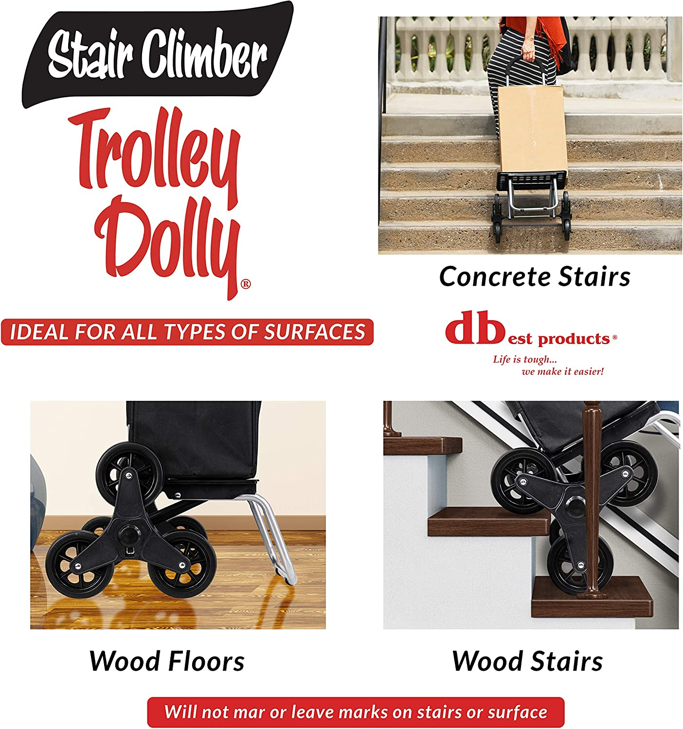 Carro Compra Sube Escaleras Trolley Dolly