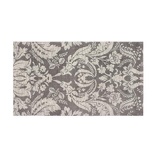 Laura Ashley Connemara 5 x 8 Jacquard Chenille Textured Area Rug, Gray