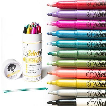Amazon Metallic Markers Paint Pens For Rocksscrapbooking