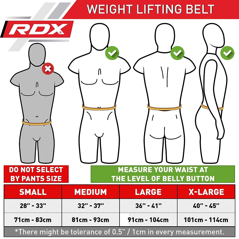 RDX Musculation Fitness Ceinture N/éopr/ène Bodybuilding Force Belt Lombaire Halterophilie Entra/înement