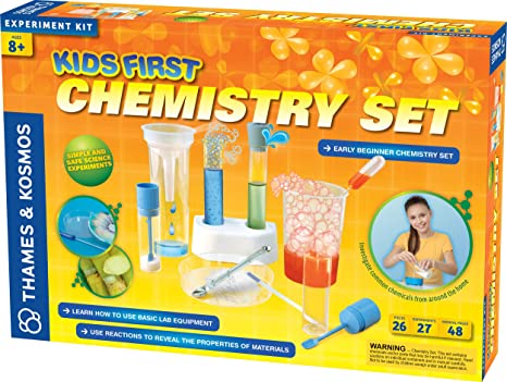 68584e416 Amazon.com: Thames and Kosmos Kids First Chemistry Set Science Kit ...