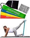 Fitnessbänder Set 4-Stärken by ActiveVikings® - Ideal für Muskelaufbau Physiotherapie Pilates Yoga Gymnastik und Crossfit | Fitnessband Gymnastikband Widerstandsbänder