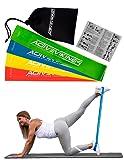 Fitnessbänder Set 4-Stärken by ActiveVikings - Ideal für Muskelaufbau Physiotherapie Pilates Yoga Gymnastik und Crossfit