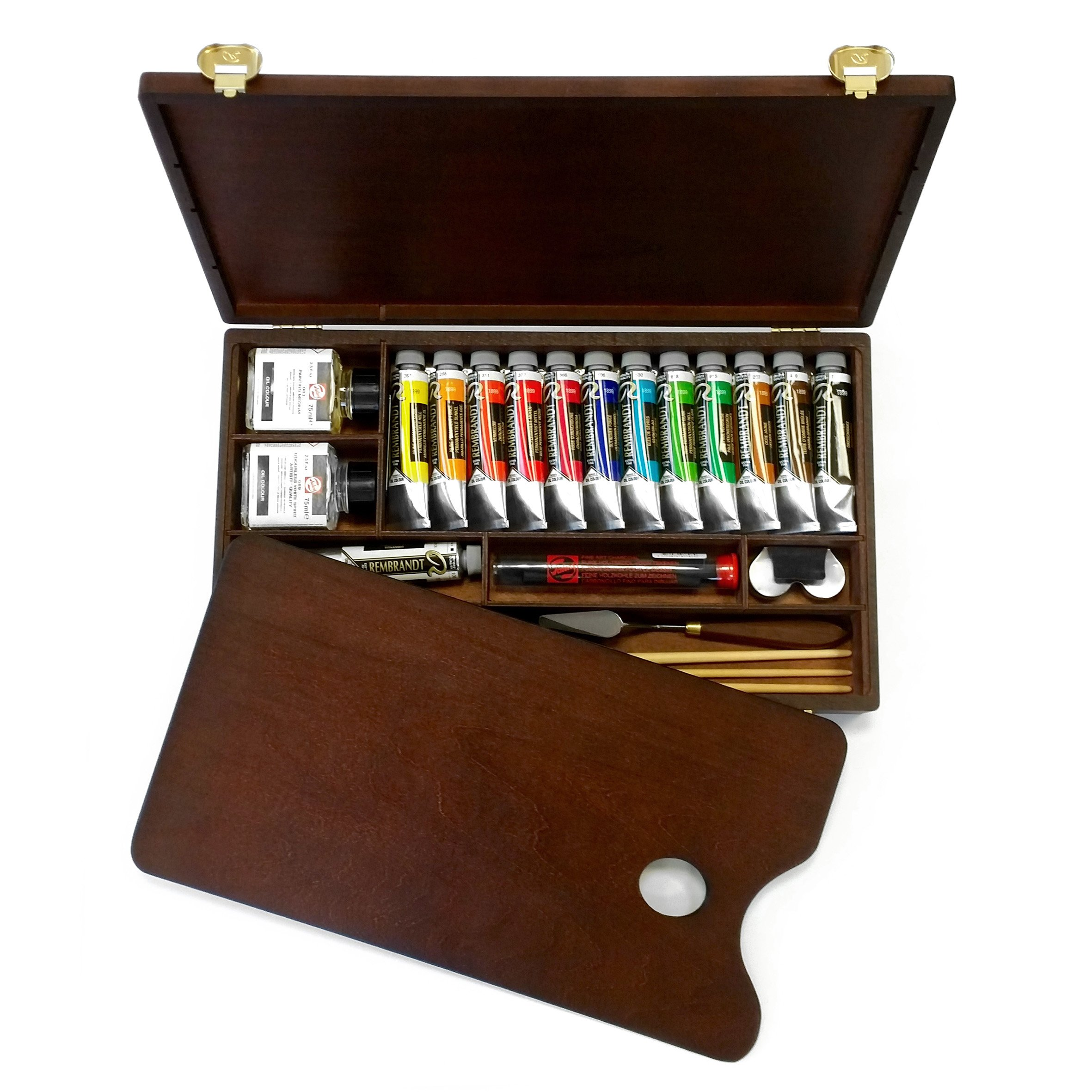 Royal Talens - Rembrandt Oil Colour Box - Professional Edition in Wooden Chest - With Paints, Palette, and Brushes