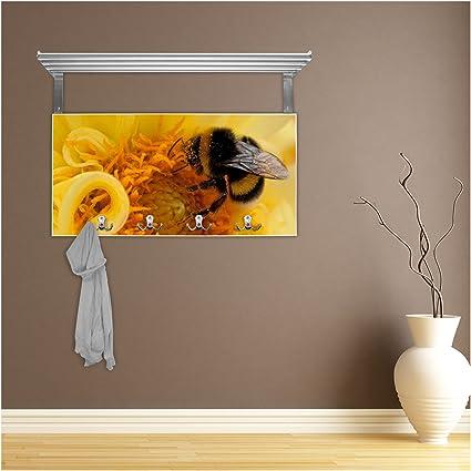 banjado Color Blanco Perchero con Estante y diseño  Bumble Bee  Amazon.es   Hogar 0cb8b15a6eb
