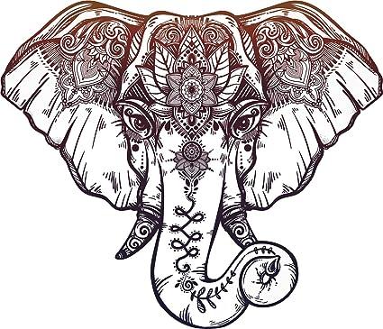 amazon com red purple mandala elephant cartoon pen art vinyl decal