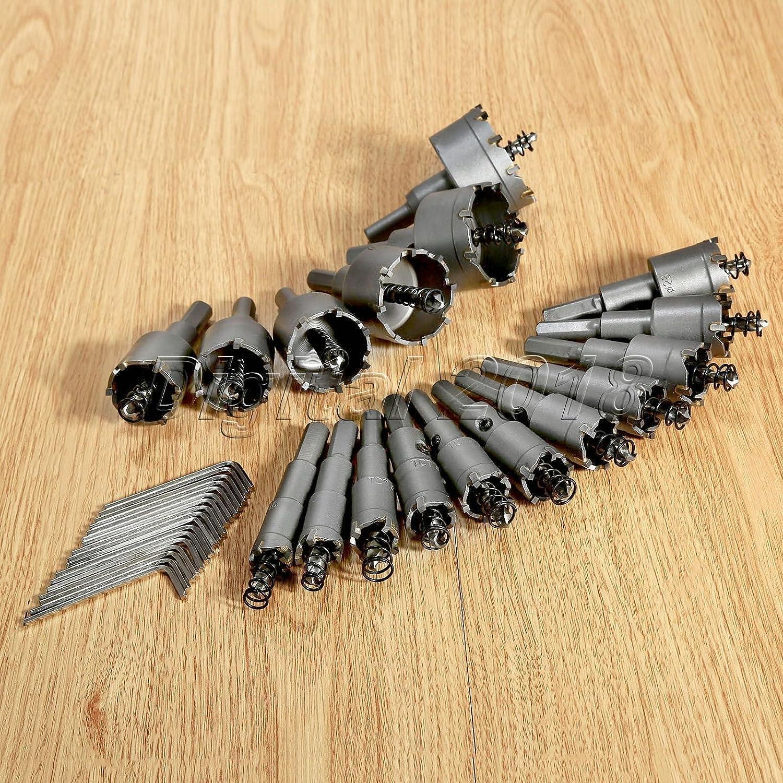 16-50mm Carbide Tip Tipped Drill Bit Metal Cutter Hole Shank Durable Craft Tool