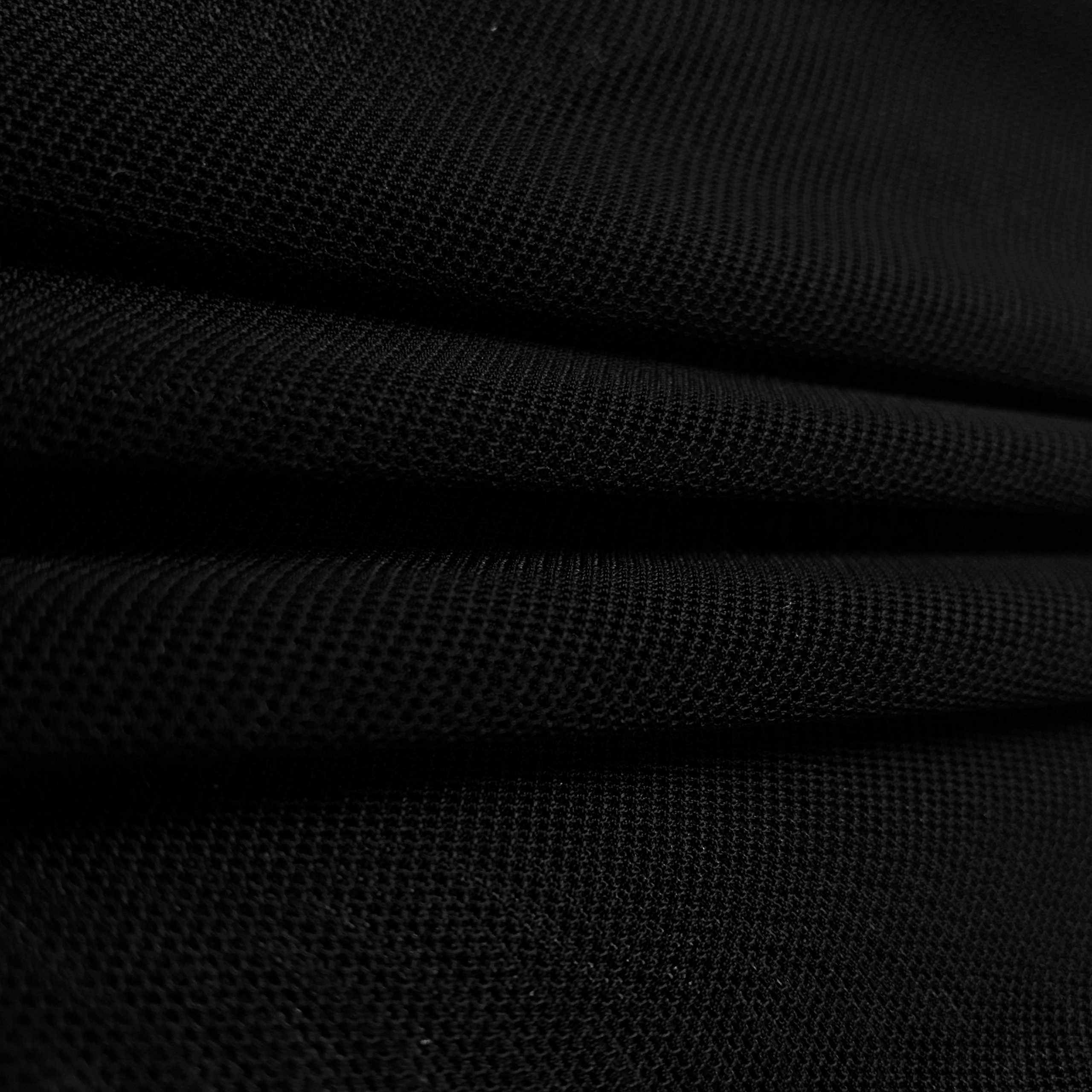 Solid Power Mesh Fabric Nylon Spandex 60'' Wide Stretch Sold BTY Many Colors (Black, 5 YARD)