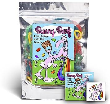 Amazon bunny barf rainbow lace licorice funny easter bunny barf rainbow lace licorice funny easter basket gag birthday girl boy and negle Image collections