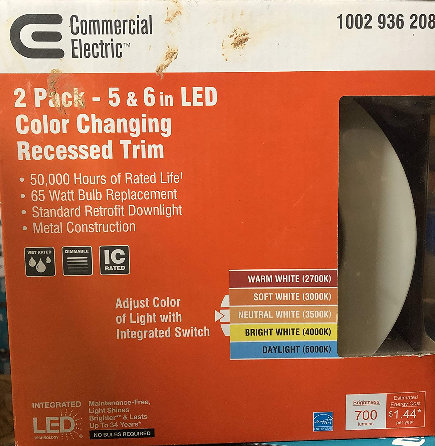 Amazon.com: Commercial Electric 2 Pack - 5 & 6 in LED Color Changing Recessed Trim: Home Improvement