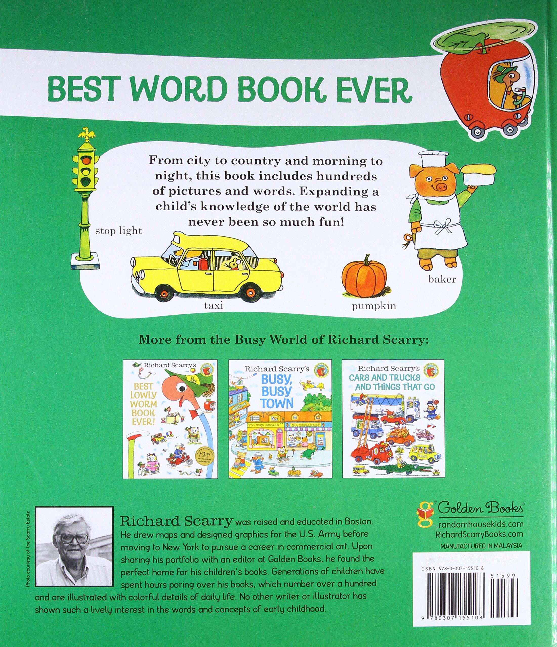 Amazon Richard Scarry s Best Word Book Ever Giant Golden