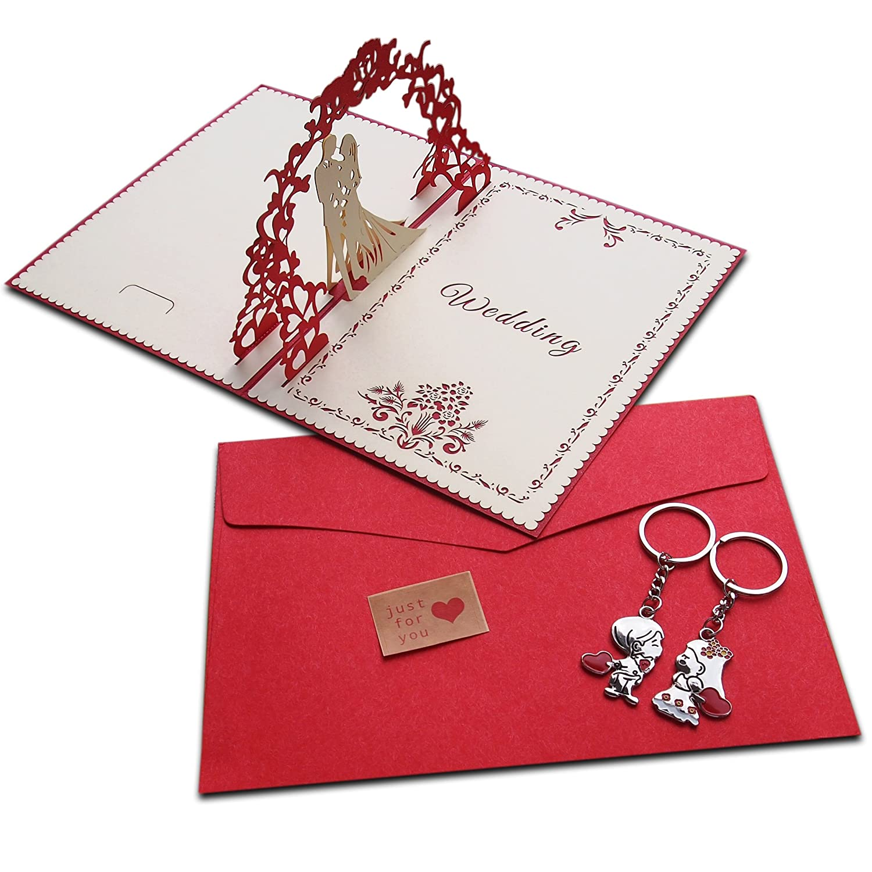 Luxury Wedding Gift Card Set Big Size 3d Pop Up with Wedding Couple ...