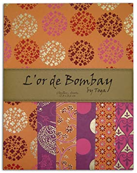 4a857f945a1 Toga PR01 L Or de Bombay Set de 6 Feuilles de papier recyclé Orange ...