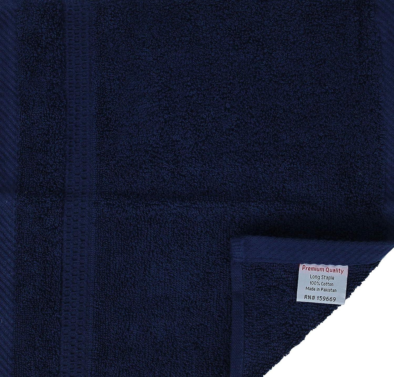 CB CASABELLA 12 Pc panno viso 100/% cotone pettinato asciugamano di qualit/à premium viso asciugamani pacchetto distintivo 12 pc viso biancheria per palestra spa viaggio hotel