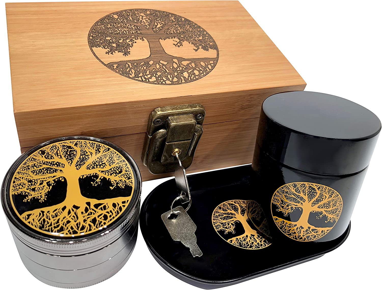 Swagstr Grinders Tree of Life Stash Box Combo
