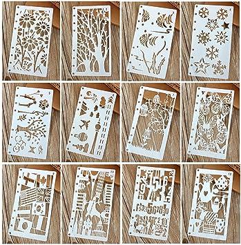Amazon.com: 12 piezas Dibujo Pintura plantillas escala ...