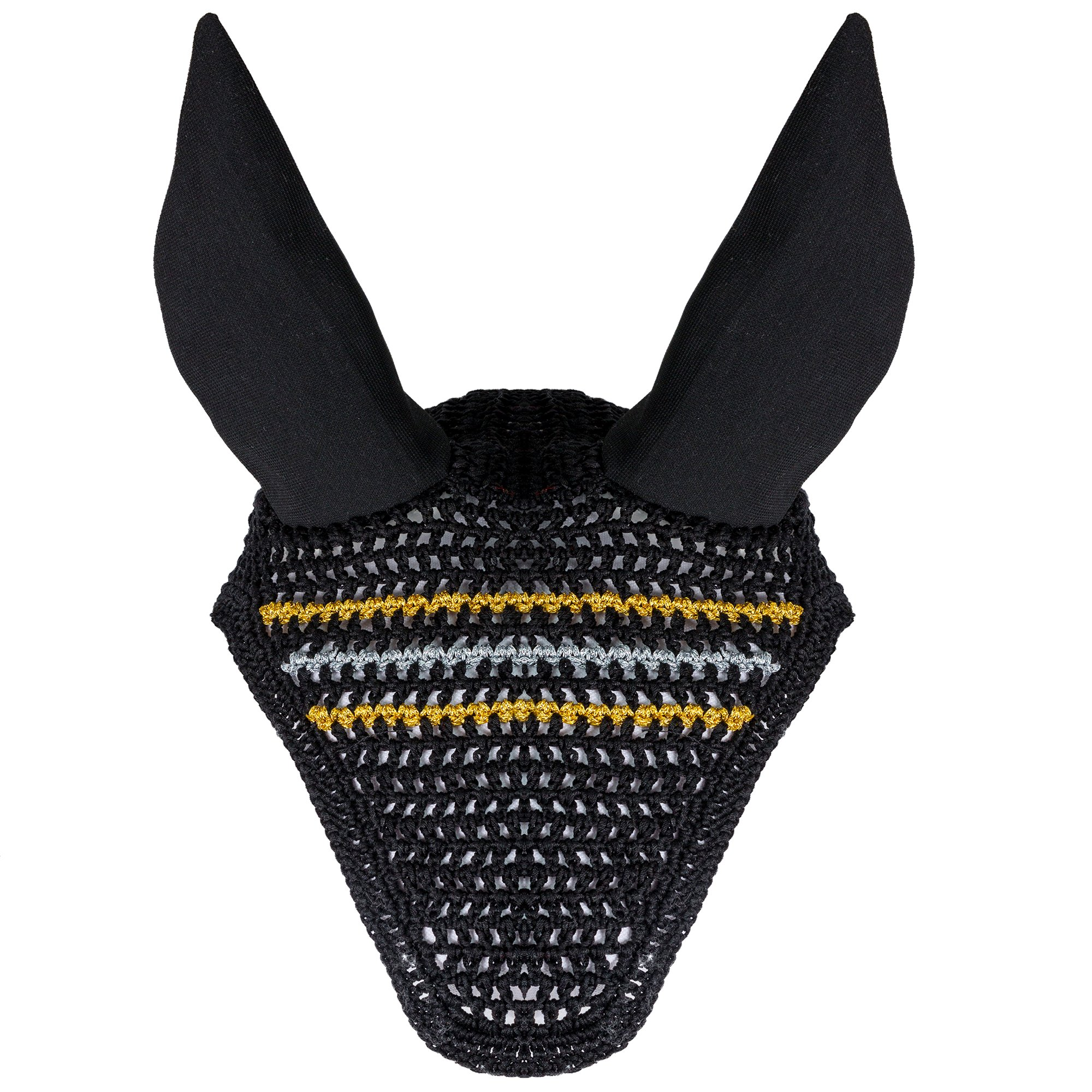Privileged and Plaid Sporty Pro Rider Horse Bonnet in Black