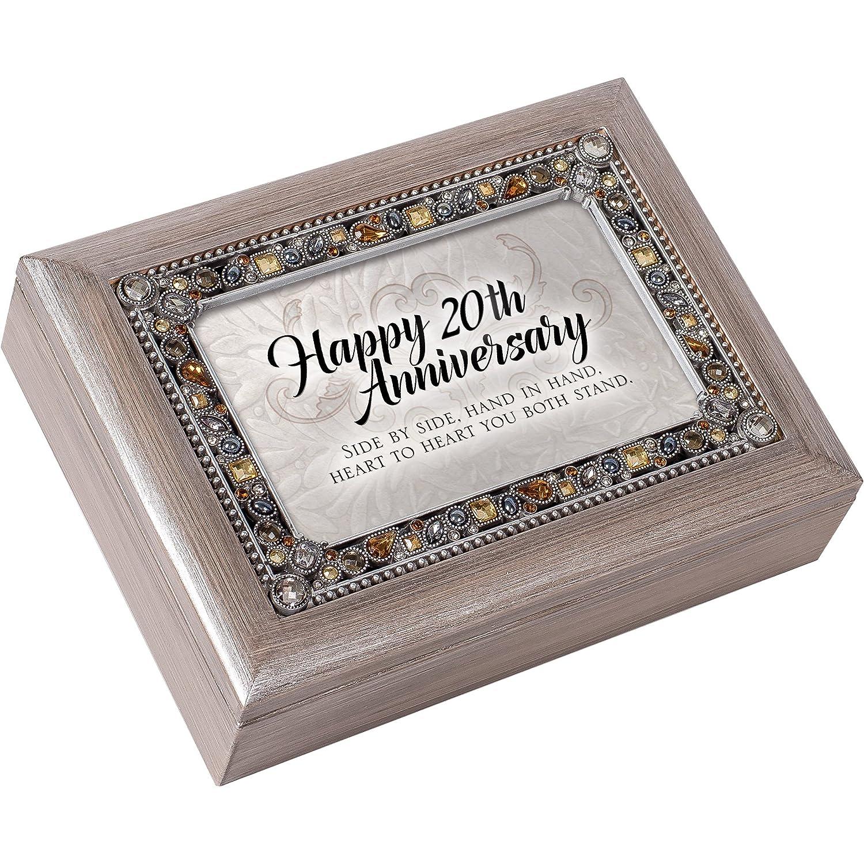 【おしゃれ】 Happy 20th Anniversary JeweledピューターColored記念品音楽ボックスPlays Light You Light Anniversary Up My B01NBSZCKV Life B01NBSZCKV, クリッピークリッピー:9e381a1e --- mail.mrplusfm.net