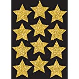 """Ashley Productions Sparkle Stars Die-Cut Magnets, Gold, 3"""""""