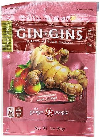 El jengibre Gente Gins Gin Spicy Apple Chewy jengibre Candy bolsa de 3 oz Ginger – Chucherías (Pack de 3): Amazon.es: Alimentación y bebidas