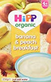 HiPP Organic Banana and Peach Breakfast 230 g (Pack of 4)