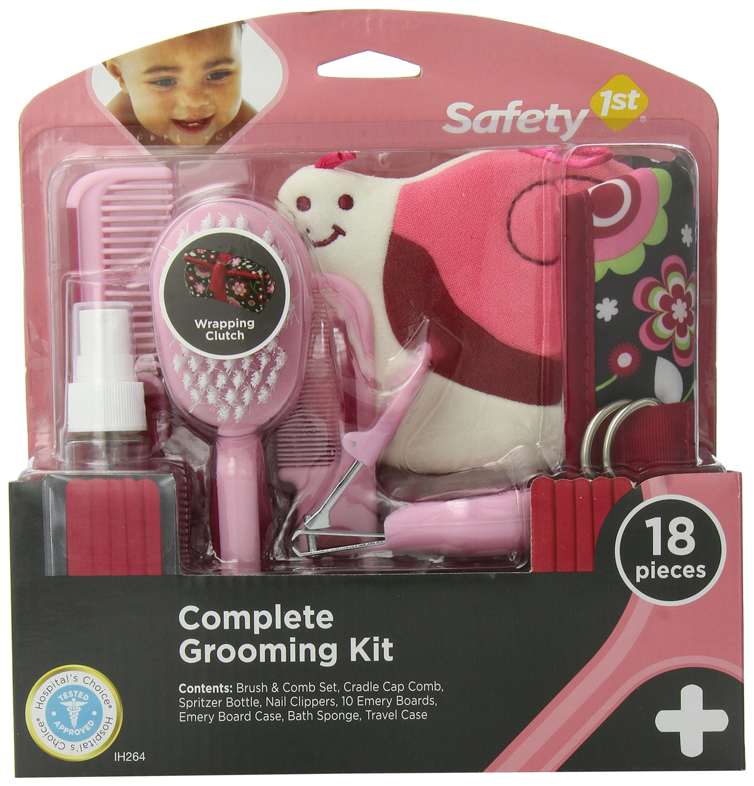 Safety 1st Complete Grooming Kit, Raspberry