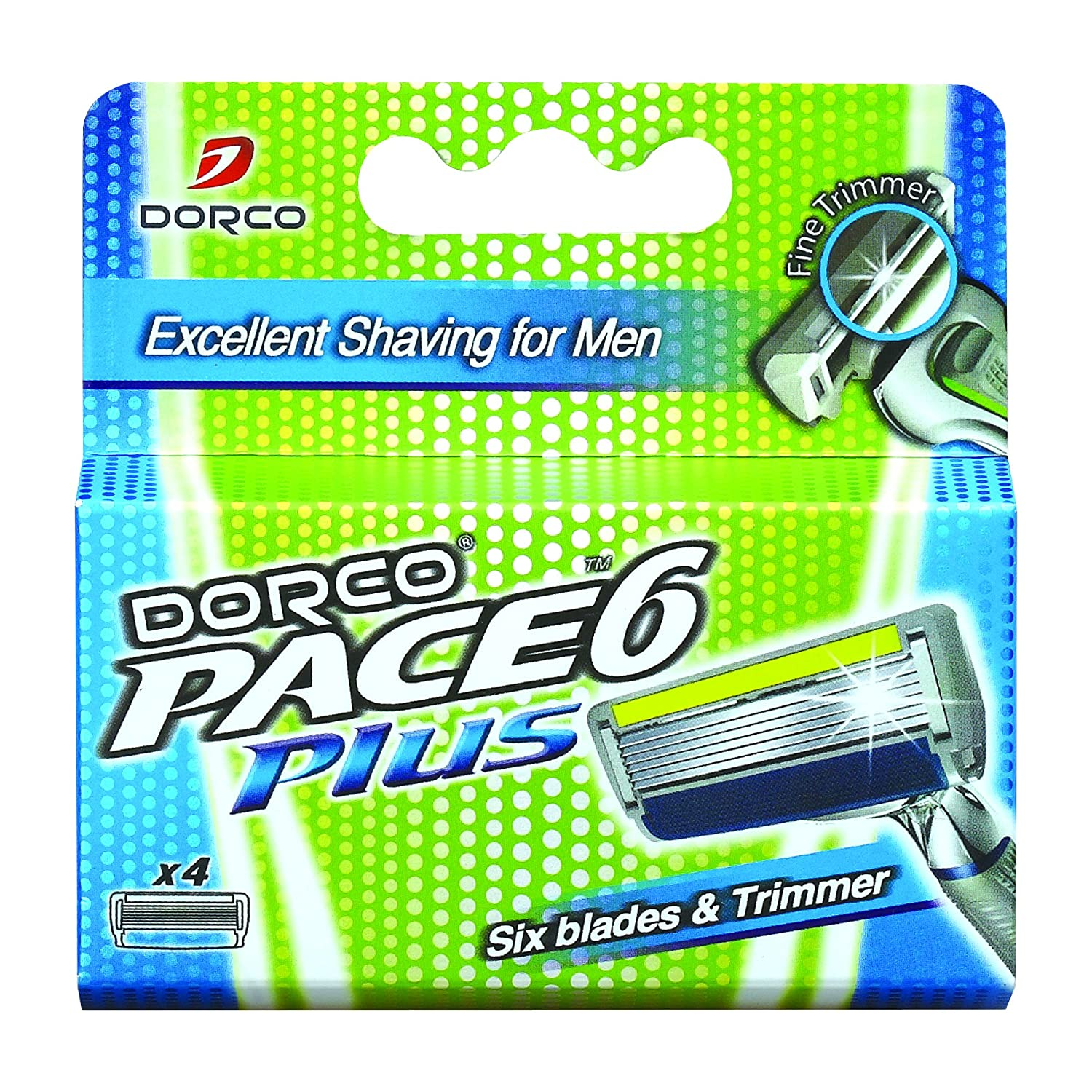Amazon.com: 6 Blade with Trimmer Razor System for Men Cartridges (Dorco Pace)(SXA5040): Health & Personal Care