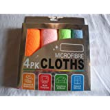 House of Quirk Microfiber Cleaning Cloth For Home, office And Cars Set of 4(Assorted Colors)