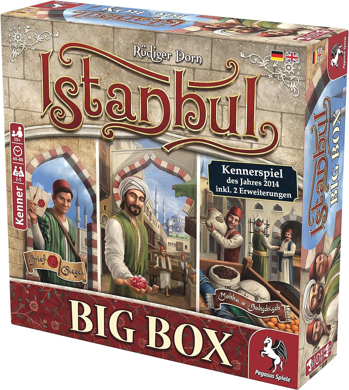 Pegasus Spiele 55119G Istanbul Big Box Kennerspiel Des Jahres 2014 - Juego de Mesa (Contenido en alemán): Amazon.es: Juguetes y juegos