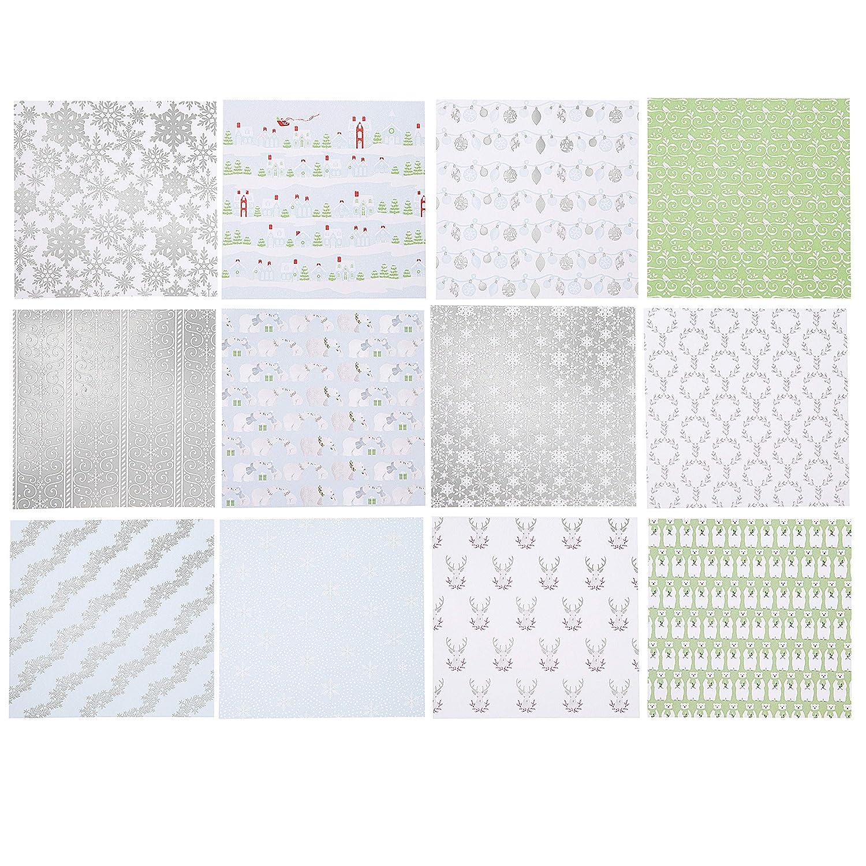 6 x 6 inches Martha Stewart 30068360 Snowflake 6x6 Paper Pad Multicolor