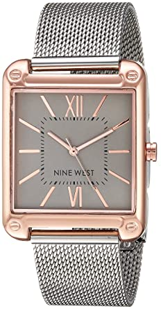 Amazon Com Nine West Women S Rose Gold Tone And Silver Tone Mesh