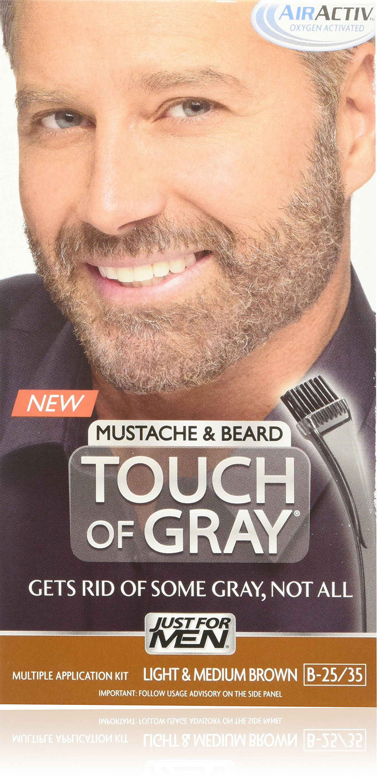 Amazon.com : JUST FOR MEN Touch of Gray Hair Color, Mustache & Beard ...