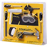 Stanley Jr. 10-Piece Kids Tool Set with Tool Belt Pouch and Real Construction Tools for Pretend Play Toys or Building…