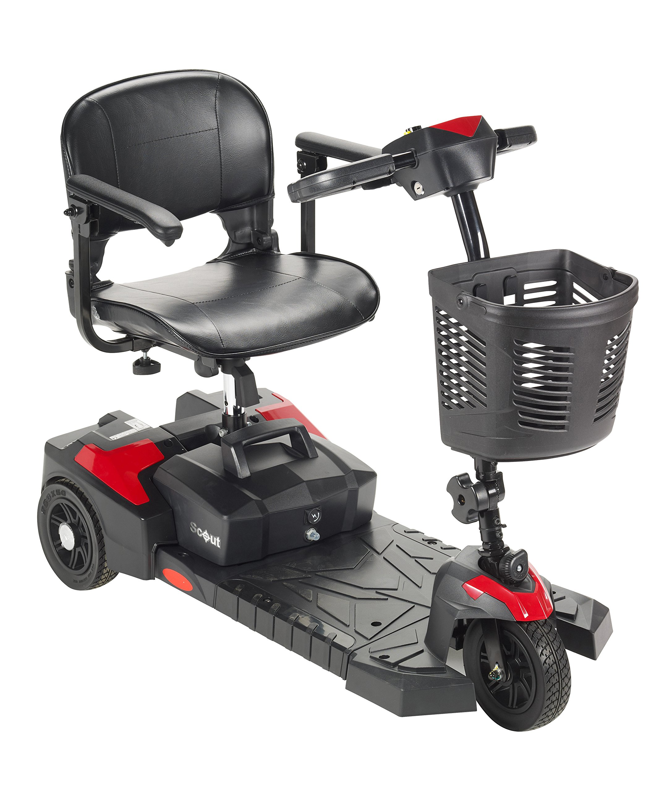 Drive Medical Scout Compact Travel Power Scooter, 3 Wheel, Extended Battery by Drive Medical
