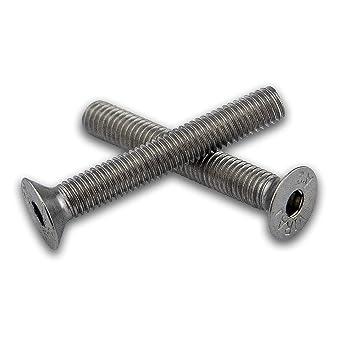 Viti a testa svasata per macchina 20 pezzi di fissaggio a esagono incassato a testa piatta per chiave a brugola M5 x 35 mm