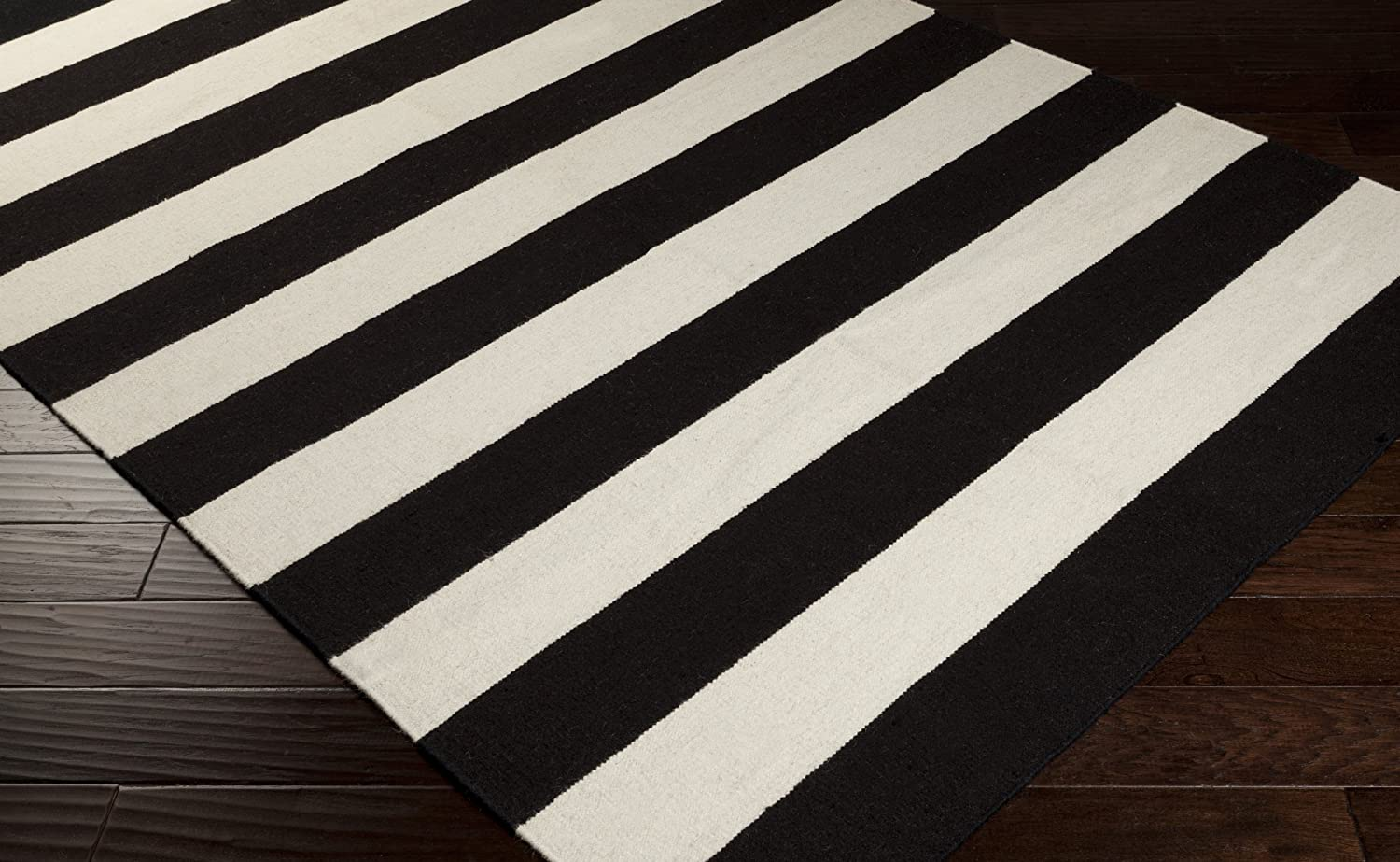 barrel black grey and olin dhurrie cotton crate rug striped white