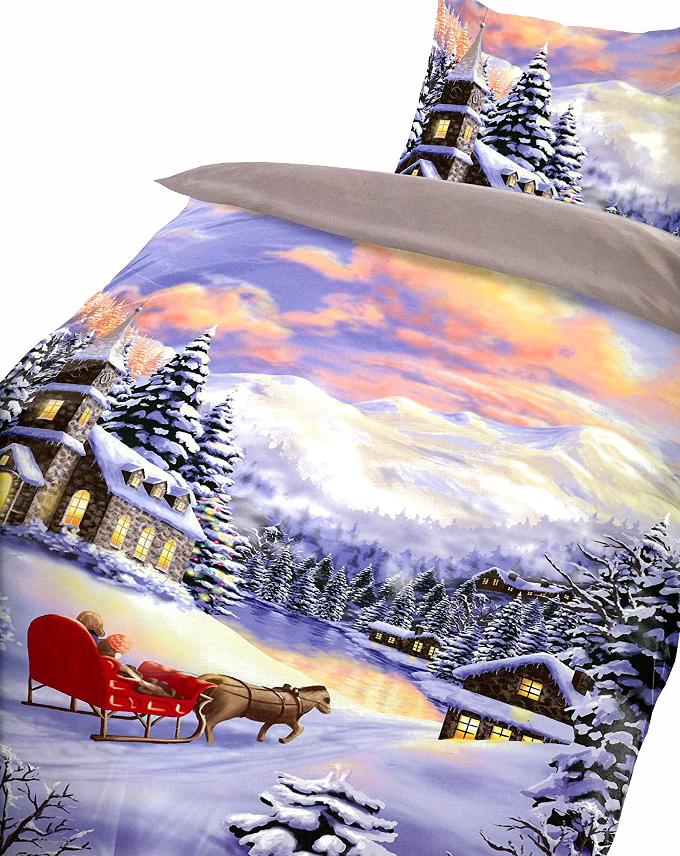 Leonado Vicenti Warme Thermofleece Bettwäsche 4 Teilig 135x200 Cm