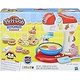 Play-Doh E0102 - Conjunto de Massinha, Batedeira de Cupcakes 5 Potes Hasbro, 3 Anos +, Multicolor