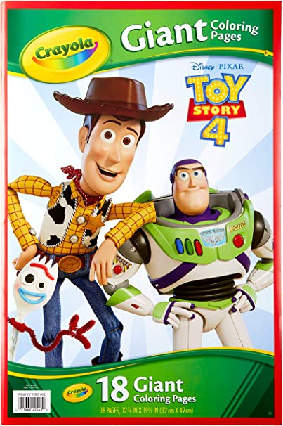 Amazon.com: CRAYOLA Giant Coloring Book, Toy Story 4