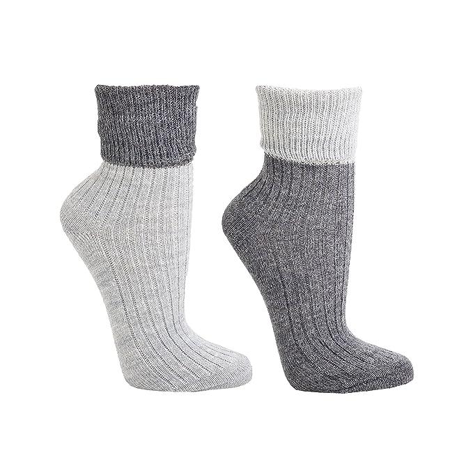 2 pares de sobre patucos con lana de alpaca para mujer lana calcetines, CH de 192: Amazon.es: Ropa y accesorios