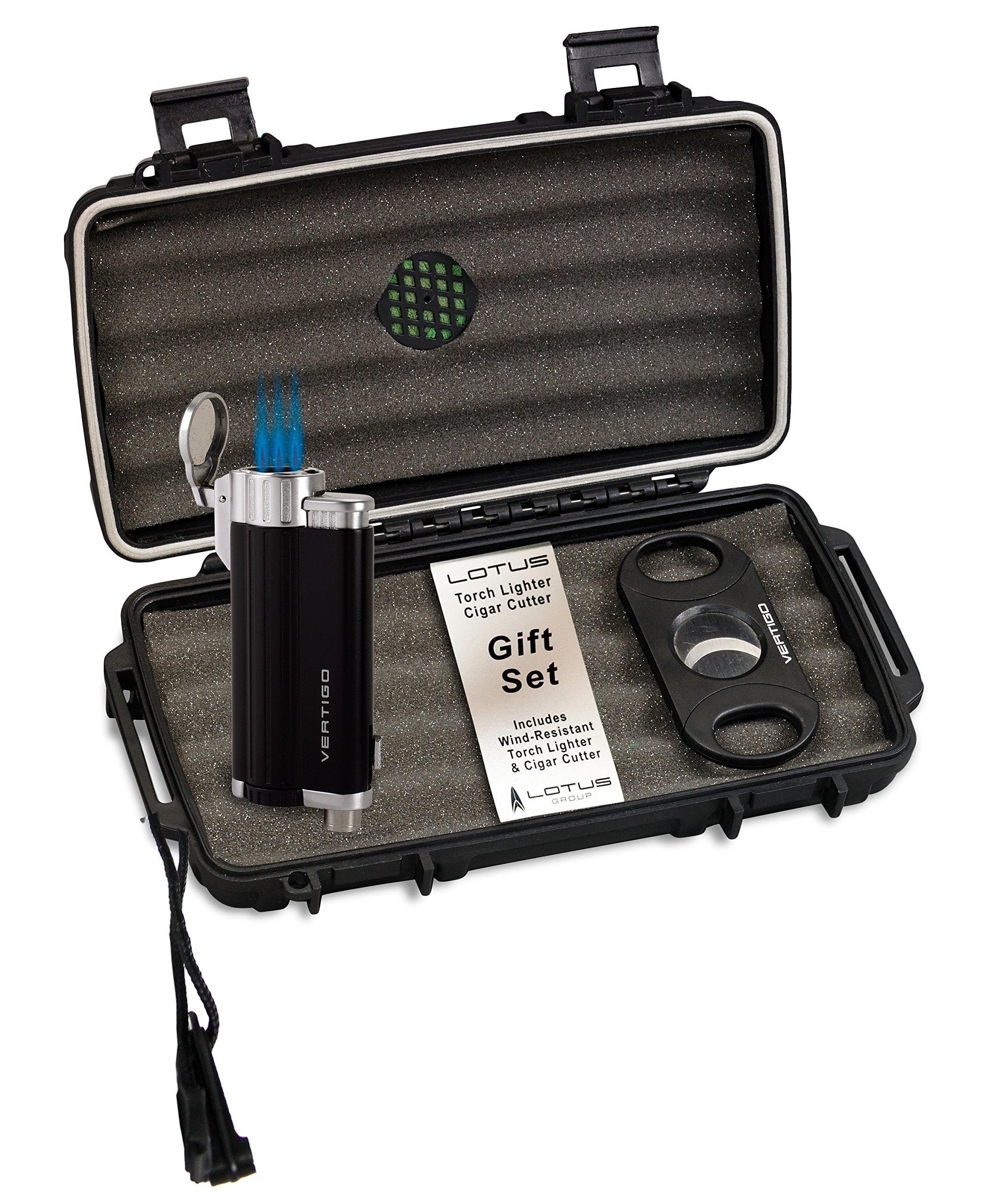 Lotus VGS Travel Humidor Lighter Cutter Set